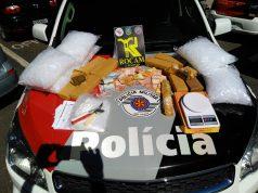 Um homem de 35 anos foi preso no bairro Jardim Baronesa em Taubaté pelo crime de tráfico de drogas. Foto: Divulgação
