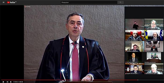 Em sessão cerimônia virtual, Barroso toma posse como presidente do ...
